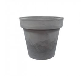 Vaso Japi Redondo Essencial 37 Cimento Queimado JVRECQ37
