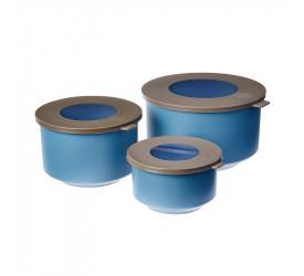 Conjunto Coza 3 Potes Hoop Azul 992621334