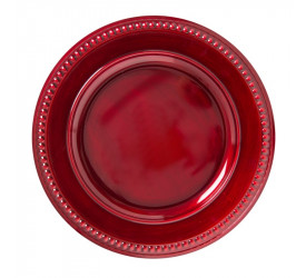 Sousplat Galles Dots Rouge Antique Copa&Cia 201122U