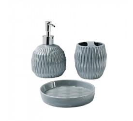 Conjunto de Banheiro Gris 3 Peças Haus Brinox 57718100