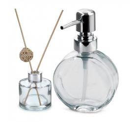 Jogo Dispenser Recipiente Aroma Clear Mimo Style Vd20148