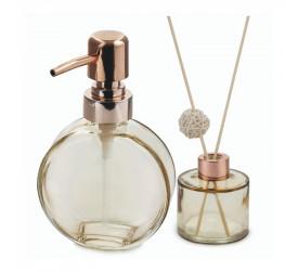 Jogo Dispenser Recipiente Aroma Clear Mimo Style Vd20146
