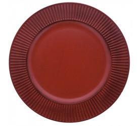 Sousplat Listras Vermelho Mimo Style Sp1744vm