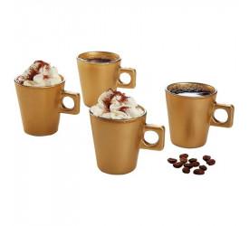 Jogo com 4 Xícaras Plain Coffee Time em Vidro 80Ml 25797