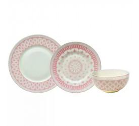 Aparelho de Jantar Tie Mood 18 Pçs em Porcelana 23255