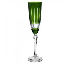 Taça P/Champ Elizabeth Lapidada 200Ml Verde Bohemia 58623