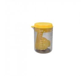 Copo e Colheres Medidoras Descomplica Amarelo Brinox 2600143