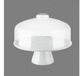Boleira com Cúpula Cake Coza 32cm Branca 10111/0007