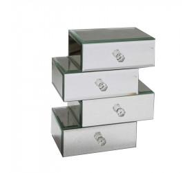 Porta Joias Reflexo em Mdf com 4 Compartimentos 23598