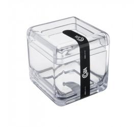 Porta Algodão e Cotonete Cube Coza Cristal 208790009