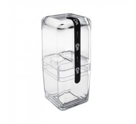 Porta Escovas com Tampa Cube Coza Cristal 208770009