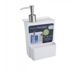 Dispenser Multi Glass 600ml Coza Branco 207190007