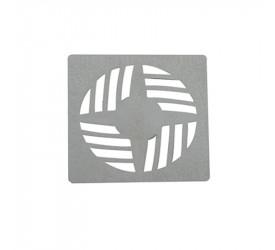 Grelha Astra Quadrada em Abs 9,4x9,4 cm Cromada Gr14