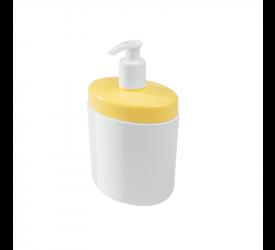Porta Sabonete Líquido Full Coza Branco e Amarelo 104430463