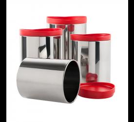 Conjunto de Potes para Mantimentos Brinox 4 Peças 2117/151