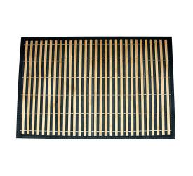 Lugar Americano Bambu Listra Cru/Preto 30X45 Mimo Style JA10206