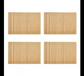 Jogo Americano Bambu Cru C/4 Mimo Style Ja10208