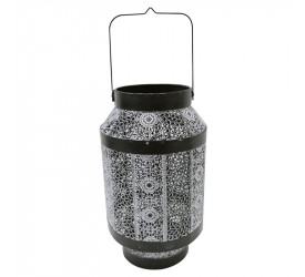 Lanterna Fez Decorativa em Ferro Cor Prata 26871