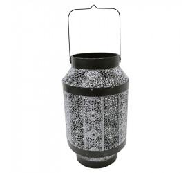 Lanterna Fez Decorativa em Ferro Cor Prata