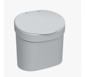 Lixeira para Pia Coza Cinza Frio Basic 4L 109020499