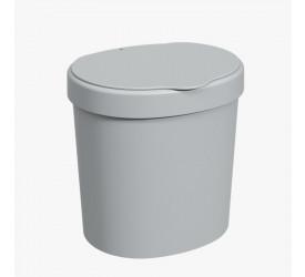 Lixeira para Pia Coza Cinza Frio Basic 2,5L 109060499