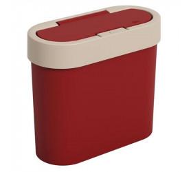 Lixeira Coza Flat Vermelho 2,8L Brinox 170030332