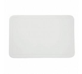 Lugar Americano Avulso Retangular PVC Color Branco 172595U