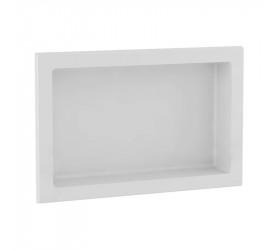 Nicho Thin Retangular de Embutir 58x38 cm Branco Gaam 090.20