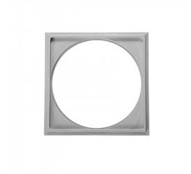 Porta Grelha Astra Quadrado 15x15 cm em Abs Cinza Pg16