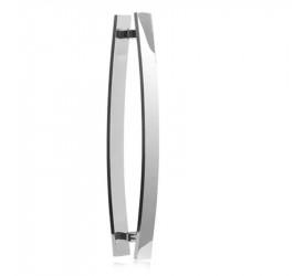 Puxador Alumínio Barra Chata Curvo Brilhante Florence  60 cm
