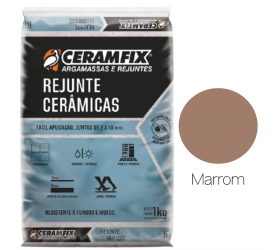 Rejunte Cerâmica Ceramfix Marrom 1Kg