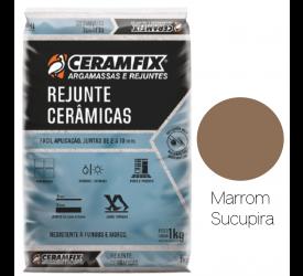 Rejunte Cerâmica Ceramfix Marrom Sucupira 1Kg