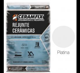 Rejunte Cerâmica Ceramfix Platina 1Kg
