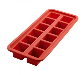 Forma de Gelo de Silicone Vermelho Mimo Style SN14285