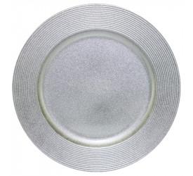 Sousplat Disco Prata Mimo Style sp13718