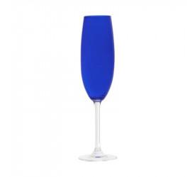 Jogo de Taças 6 Un Champanhe Cristal  Gastro Azul 220ml