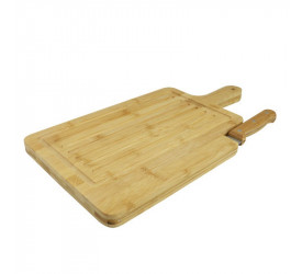 Tábua de Corte em Bambu com Faca 27098