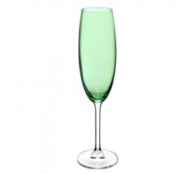 Jogo de Taças 6 Un Champanhe Cristal Gastro Verde 220ml
