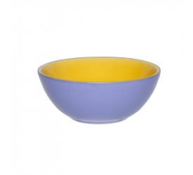 Tigela Pequena 16cm 600Ml Amarelo/Azul Hortência AB37-0114
