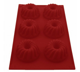 Forma de Silicone Pudim para 6 Cupcakes Mimo Style SN13276